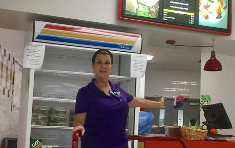 Adriana Punziano, cafeteria manager at South Broward High School.
