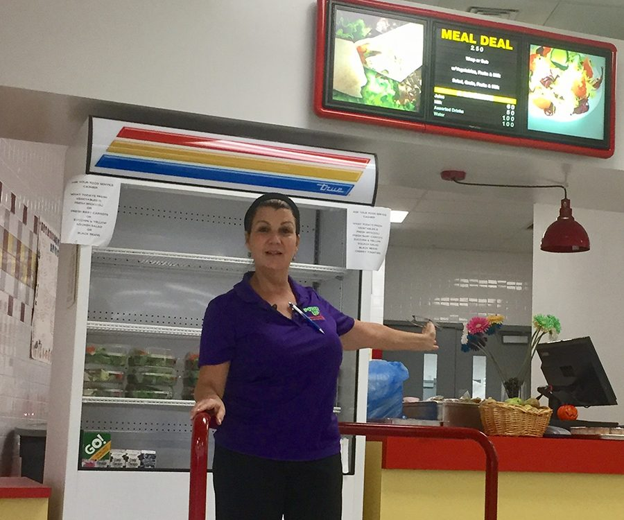 Adriana+Punziano%2C+cafeteria+manager+at+South+Broward+High+School.