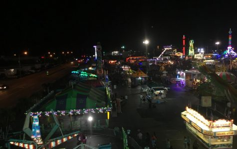 The view from the top of the Ferris Wheel at Broward County Fair.