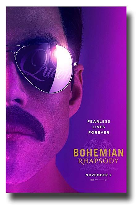 Rami+Malek+posing+as+Freddie+Mercury+on+a+Bohemian+Rhapsody+movie+poster.