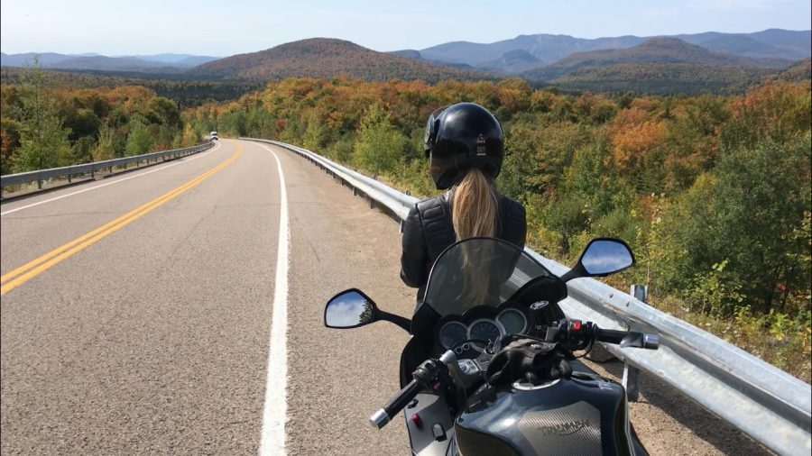 Audrey+Nadeau+%2817%29+gazes+at+the+view+of+the+mountains+in+%C3%8Eles-de-Boucherville+National+Park.+The+road+in+the+photograph+is+especially+known+as+a+motorcycle+stop+for+an+amazing+view.+