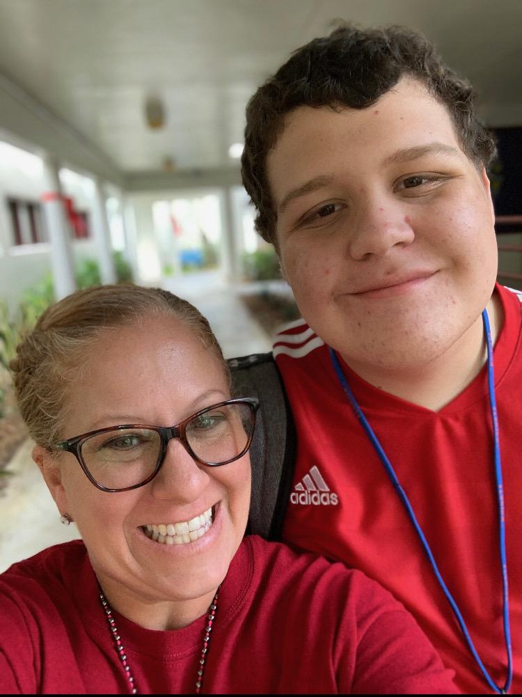 Erika Bueter with her student Devon