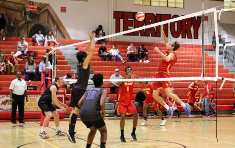 On February 24th, the South Broward boys volleyball team took on the Cypress Bay volleyball team.