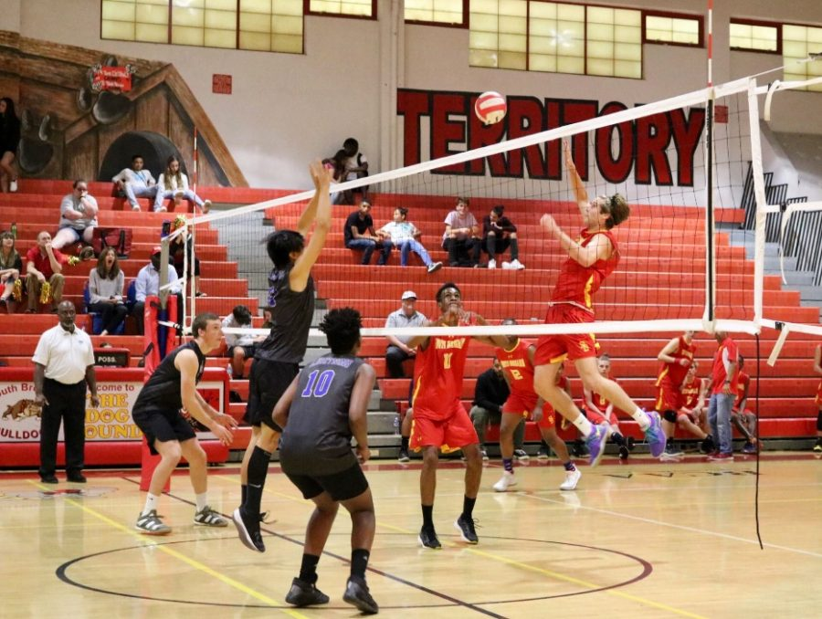 ++On+February+24th%2C+the+South+Broward+boys+volleyball+team+took+on+the+Cypress+Bay+volleyball+team.+