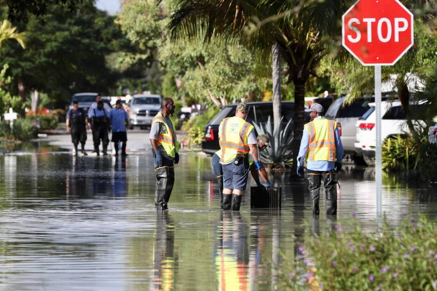 Workers pumping out sewage from streets in Ft. Lauderdale
