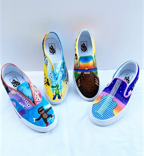 SBHS Art Students Decorate Vans Shoes in Effort to Win $25,000