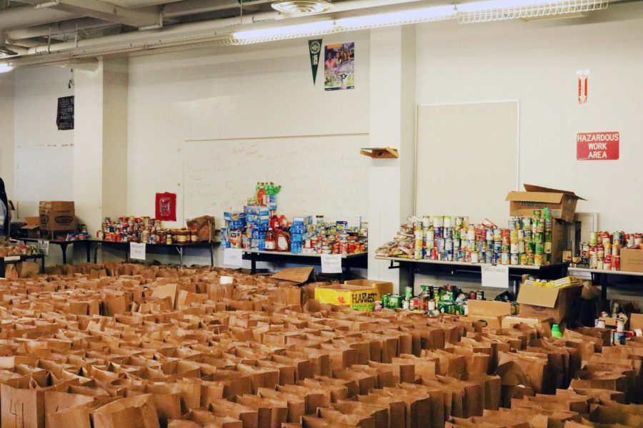 100+ bags filled with food by South Browards students at the harvest drive.