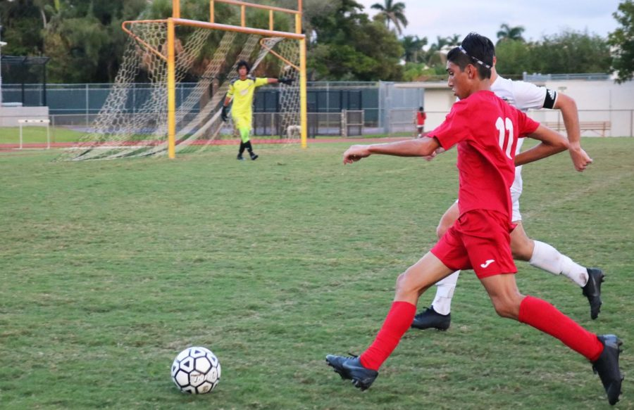 Boys Soccer Team Wins Against Cardinal Gibbons High