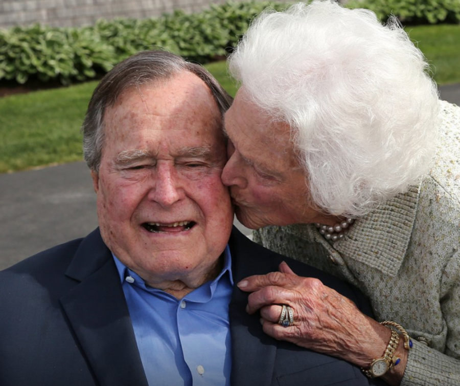 bush with hid wife before they both passed