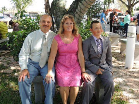 Christopher Hixon enjoying time with his wife, Debra Hixon, and his youngest son, Corey Hixon.