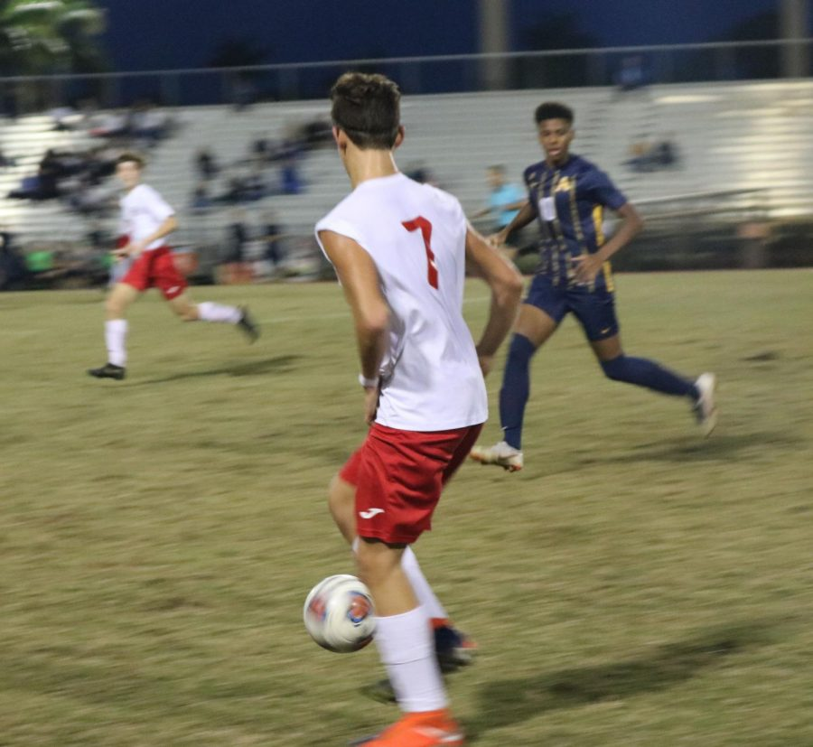 Sophomore, Felipe Lessa, makes his first goal and last goal of the game.