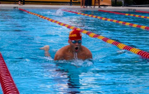 South Broward athlete takes a breath to continue the 200 yards freestyle race on October 10, 2019