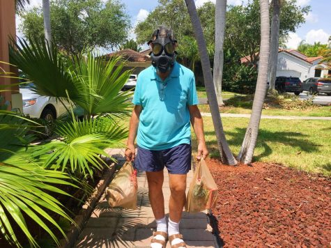 Alan Weber insists on wearing a gas mask when getting groceries because he is more susceptible to the coronavirus than others. Many people with compromised immune systems are more likely to become a victim of this virus, and less likely to be able to fight it off.