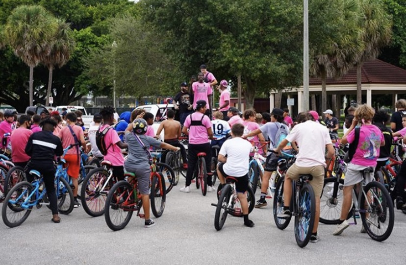 Breast Cancer Rideout in West Palm Beach, Florida on October 25th.