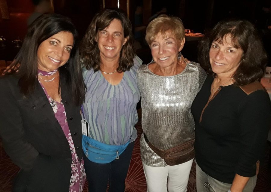 Tami (left), Jodi (mid left), Murial (mid right), and Gwen (right) all together before the feud on a cruise to Mexico back in 2017.
