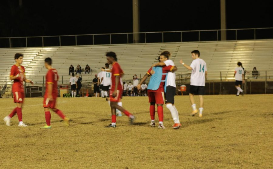 It's the final whistle, South Broward High wins 2-0 against Coral Glades High.