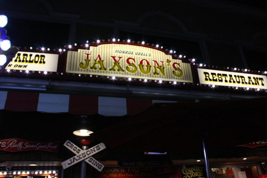The Jaxson's sign lights up the street, and where the band is played all sorts of music.