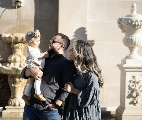 Richard spending time with his family and his daughter.